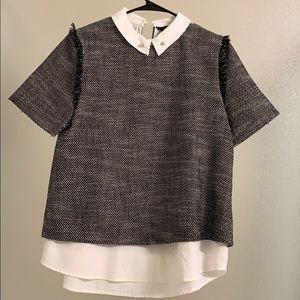 Short sleeve tweed Sister Jane blouse